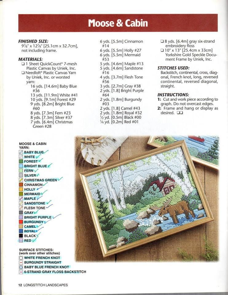 Moose Cabin Plastic Canvas Crafts Plastic Canvas Books Plastic Canvas Patterns