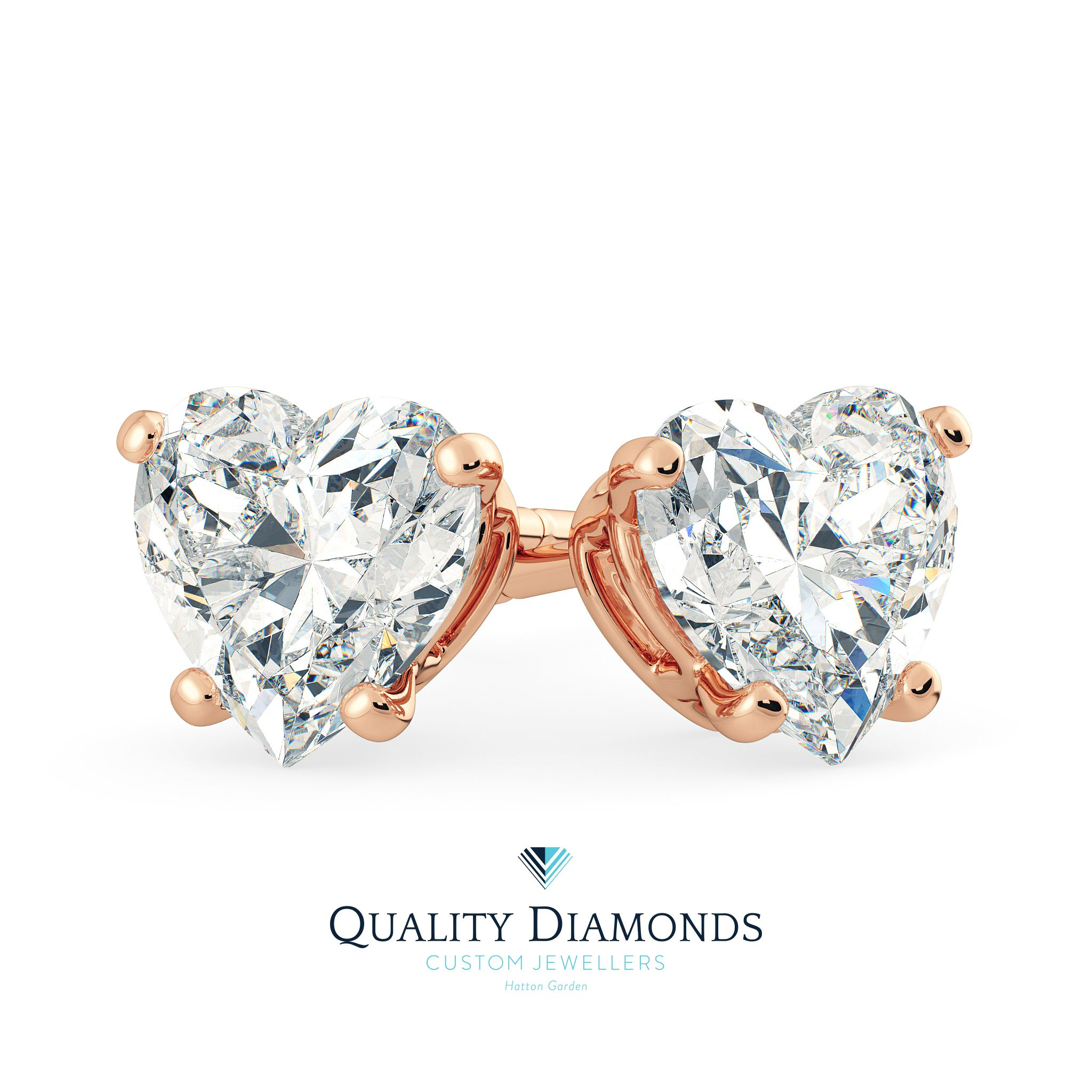 Match These Delightful Heart Cut Diamond Earrings With Our Pendant From Wednesday For A Truly
