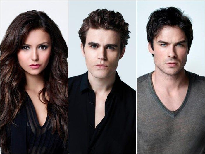 These are beautiful people. So there's that. #elena #stefan #damon
