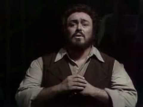 """Luciano Pavarotti singing """"Una furtiva lacrima"""" from """"L'elisir d'amore"""" by Gaetano Donizetti"""