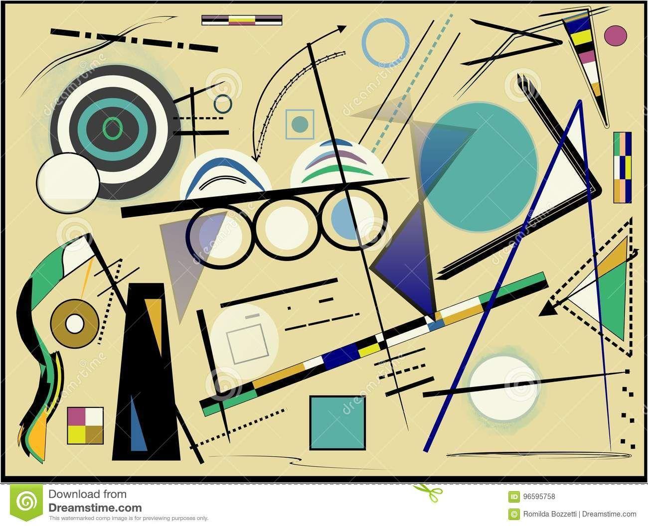 No frame Color : A, Size Inch Ber/ühmte abstrakte /Ölgem/älde-Kandinsky-geometrische Muster-Leinwand-Malerei Wand-Kunst-Bilder for Wohnzimmer-/Ölgem/älde Poster : 30x45cm