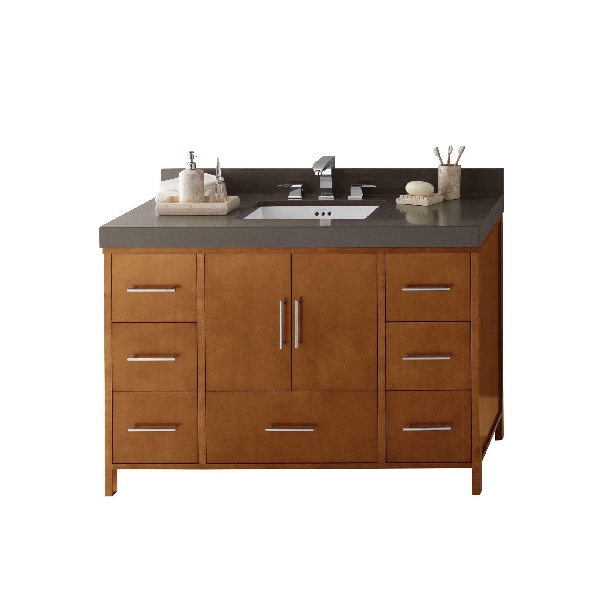 Ronbow Juno 48 Inch Bathroom Vanity Set In Cinnamon Quartz