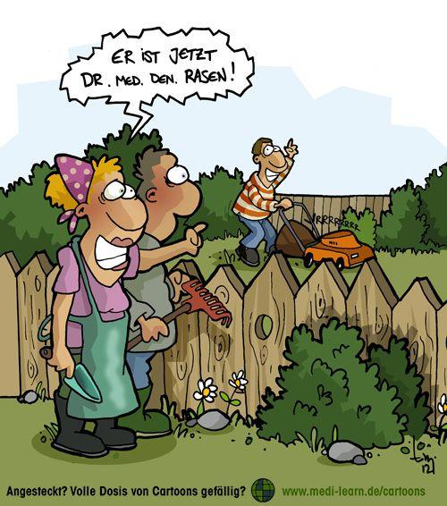 Rasenmahen Cartoon Funny Humor Und Jokes