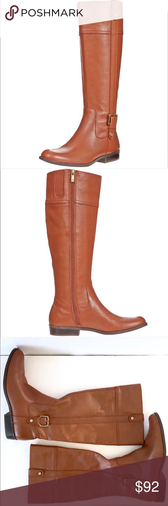 0c1907c264e Anne Klein leather Ciji iflex riding boot cognac Anne Klein cognac ciji  riding boots