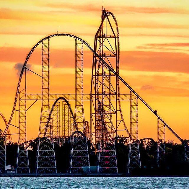 Rollercoaster Photos Videos On Instagram No Matter Sunrise Or Sunset Cedar Point Brings Exciting Thrills Each Cedar Point Roller Coaster Amusement Park