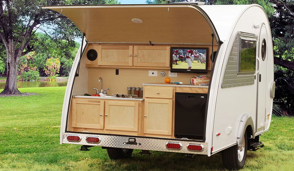 Tab Max Cs Teardrop Camper Trailer This Is My Dream Kitchen In The Back Bathroom Shower