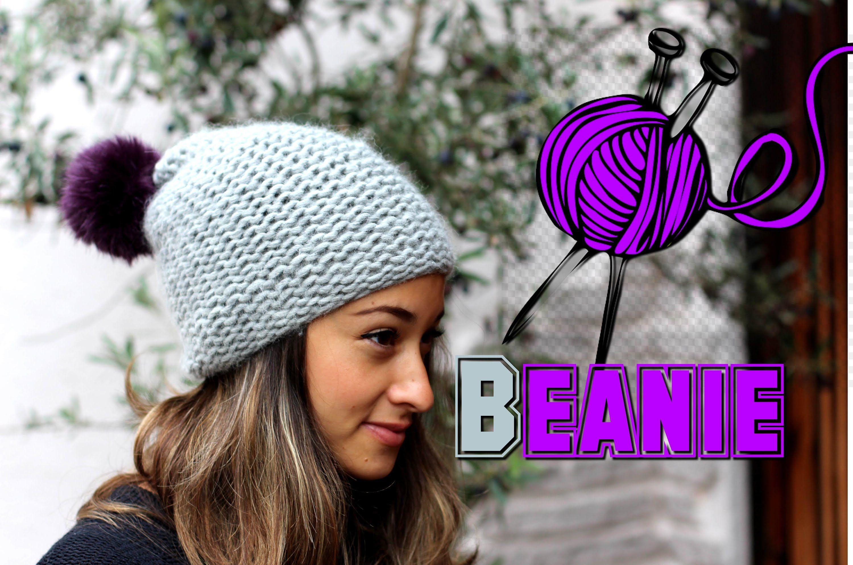 Mütze stricken lernen für Anfänger - Beanie / Wollmütze ...