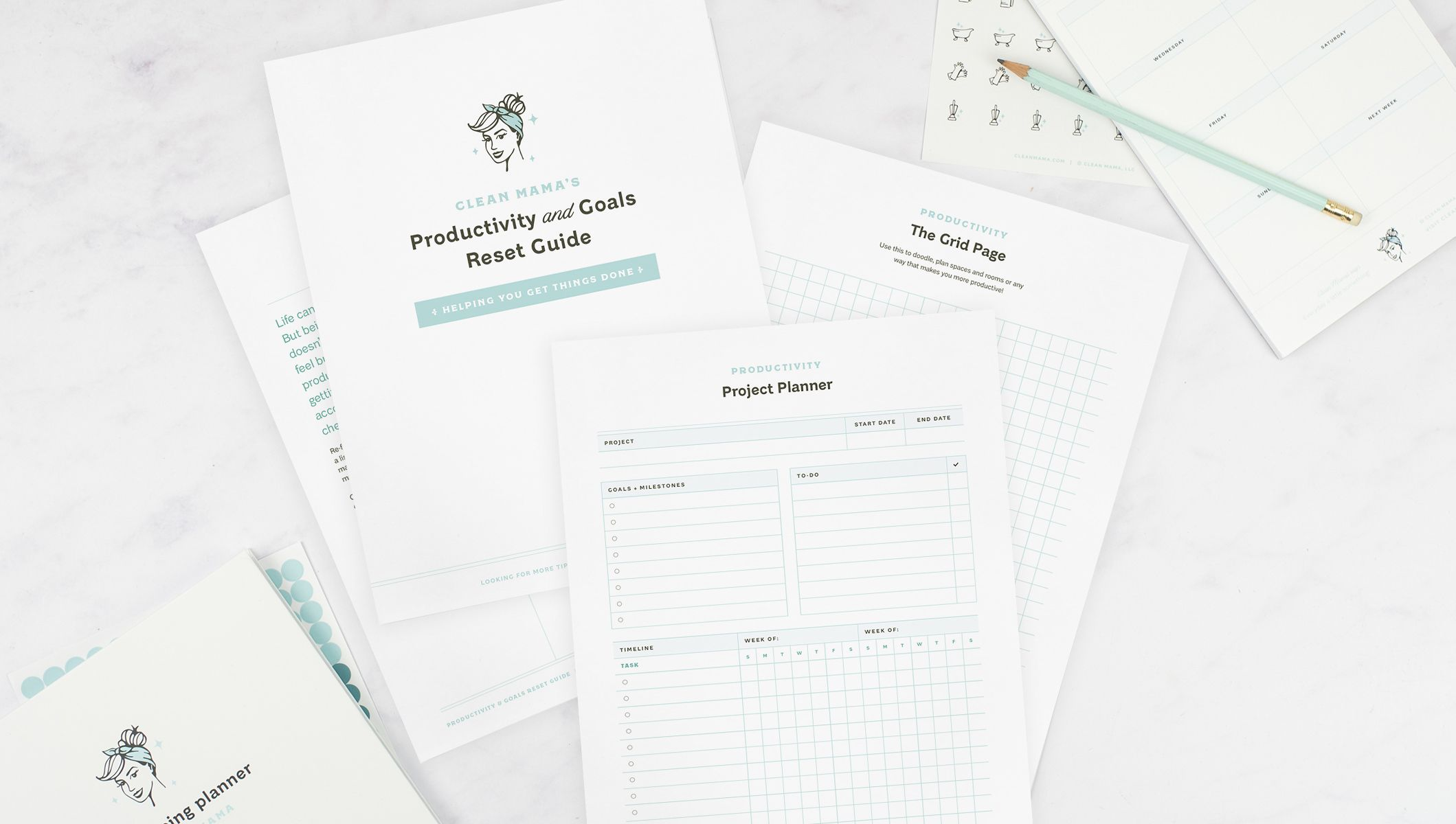 All New Clean Mama Printable Kits In