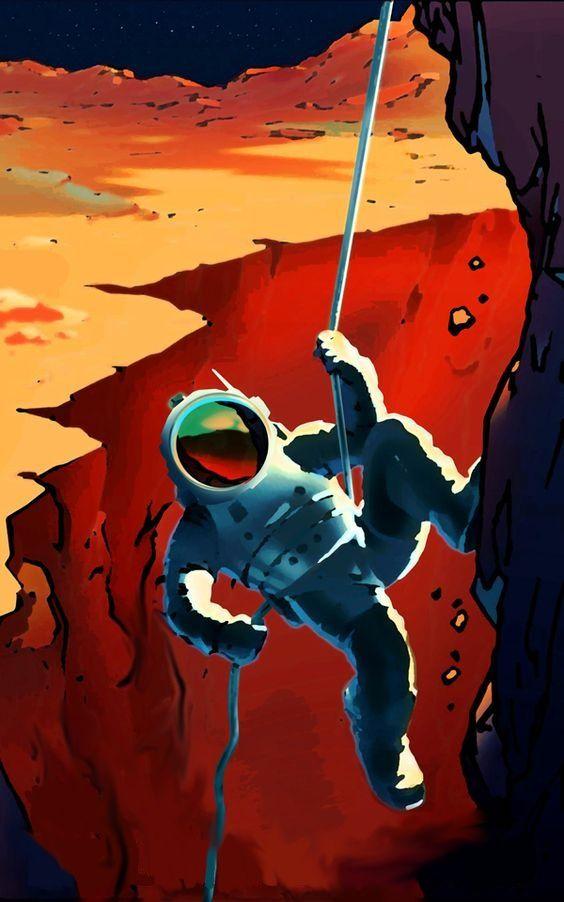 Retro astronaut phone wallpaper phone wallpapers in 2019 - Vintage space wallpaper ...