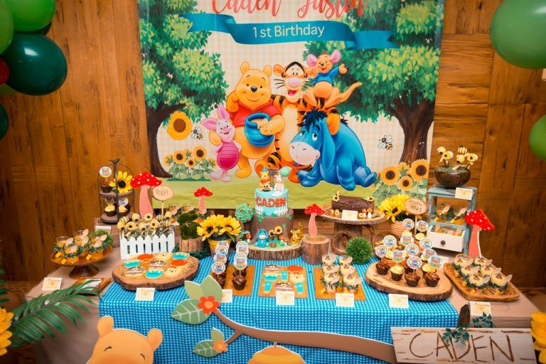 Caden's Winnie The Pooh Themed 1st Birthday Party at 10