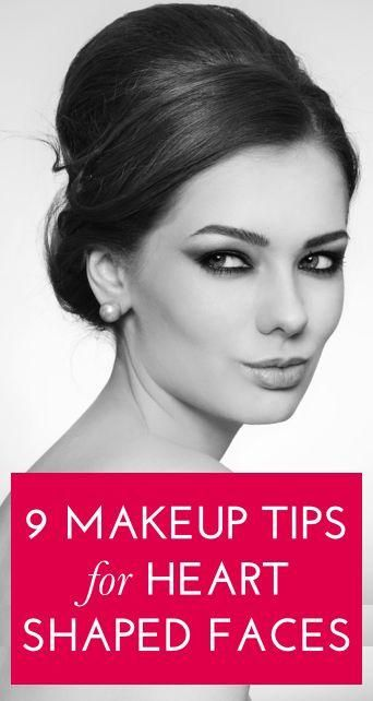 9 Flattering Makeup Looks For Heart Shaped Faces Heart Face Shape Heart Face Makeup Makeup Looks