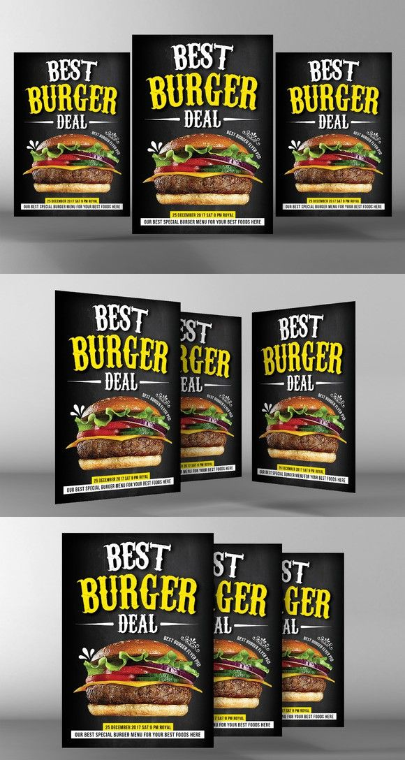 Fast Food Promo Flyer Template Flyer Templates 600 Flyer