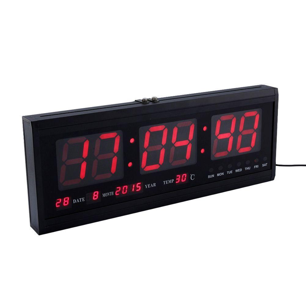 Multifunction Blue LED Clock Digital Large Big Digits LED Wall Desk ALARM Clock