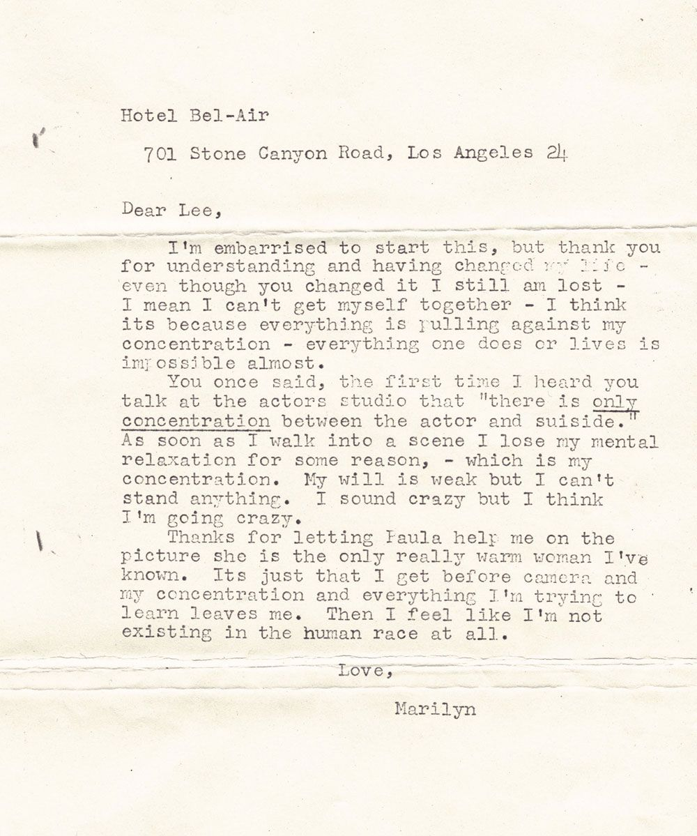 A series of letters including five unsigned file copies of Marilyn – Prize Winner Letter Template