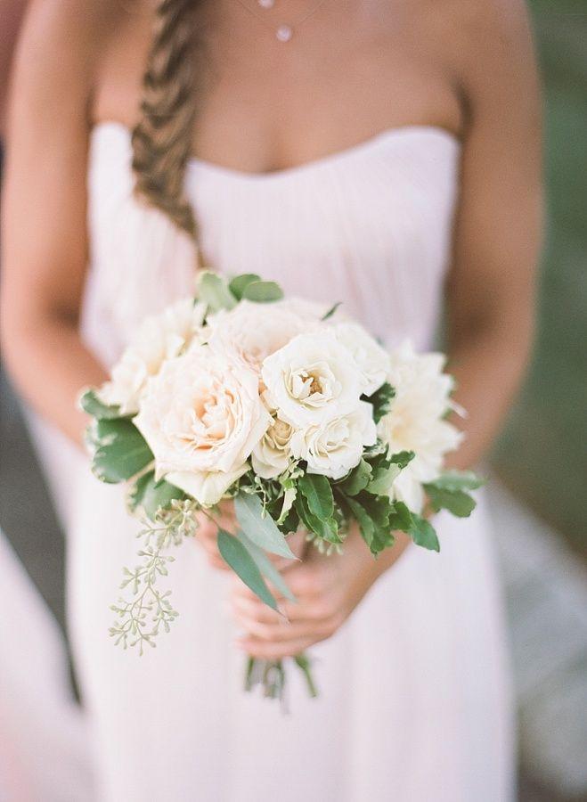 Classic rose bridesmaid bouquet: http://www.stylemepretty.com/new-jersey-weddings/allentown/2016/02/04/classic-estate-wedding/ | Photography: Robert and Katleen - http://www.robertandkathleen.com/