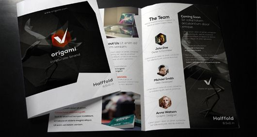Origami Bi Fold Brochure Design - DTP Pinterest Brochures - half fold brochure template