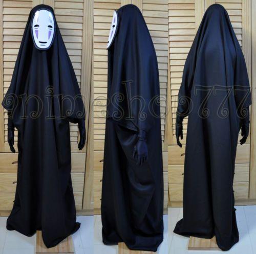 Studio Ghibli Spirited Away Kaonashi No Face Faceless Cosplay Costume Halloween