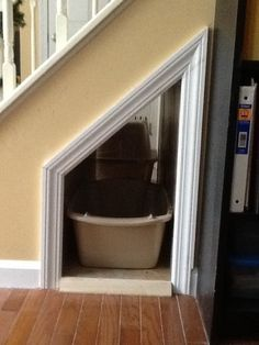 Cat Box Under The Stairs