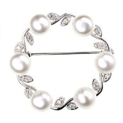 NOVICA Cream Cultured Freshwater Pearl Rhodium Plated .925 Sterling Silver Brooch Love in Bloom