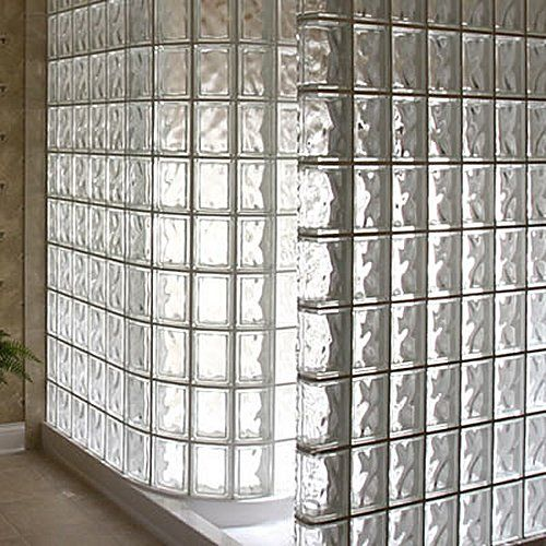 Walk In Glass Brick Shower Dream Home Pinterest