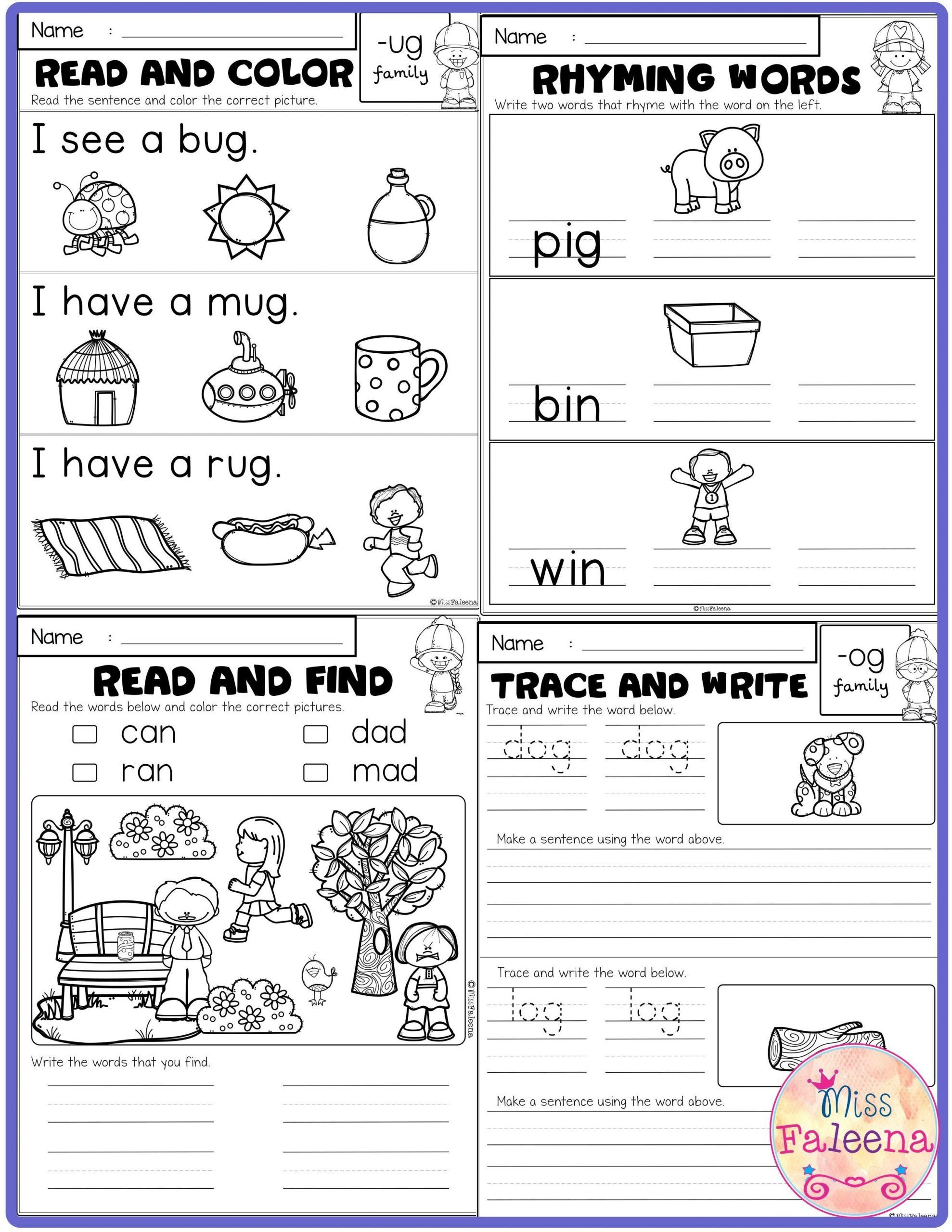 Cvc Worksheets For First Grade Free Cvc Activities Has 5
