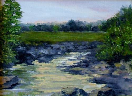 """Morning Light  9 x 12  oil on linen  $300.00"" - Original Fine Art for Sale - © Vincenza Harrity"