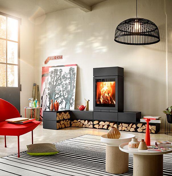 Der Kaminofen »elements 603 Front« ist eine moderne Interpretation - wohnzimmer modern mit ofen