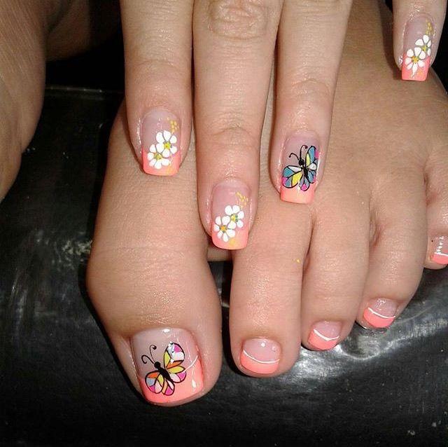 Pin de Cristina Benalcázar en Uñas | Diseños de uñas pies ...