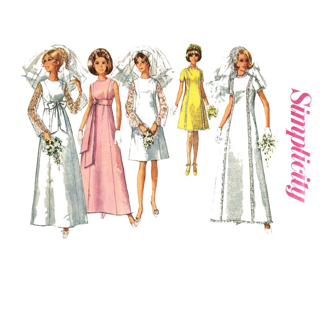 1960s wedding dress pattern simplicity 7479 brudklnning 1960s wedding dress pattern simplicity 7479 ombrellifo Image collections