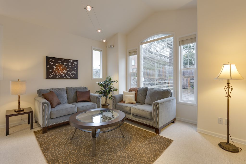 Staging a living room with two loveseats | Loveseat living room