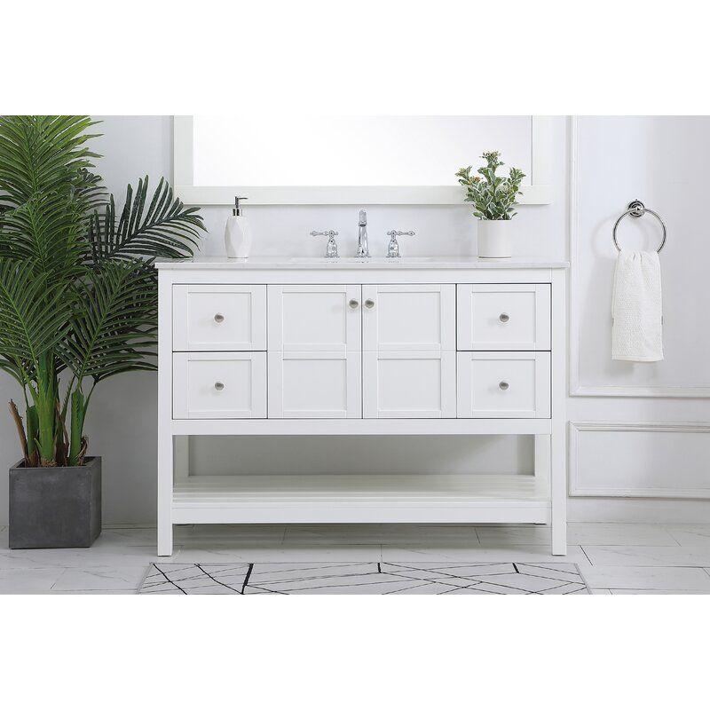 Landis 48 Single Bathroom Vanity Set In 2020 Single Bathroom Vanity Vanity Vanity Set