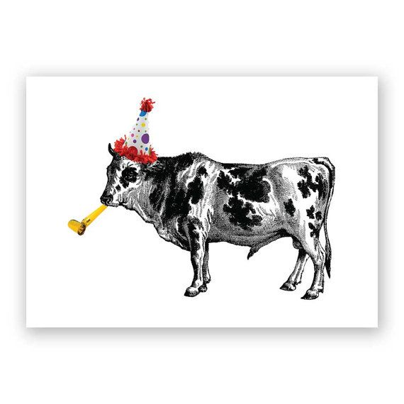 Have A Cow Birthday Card Humor Funny Everything Etsy