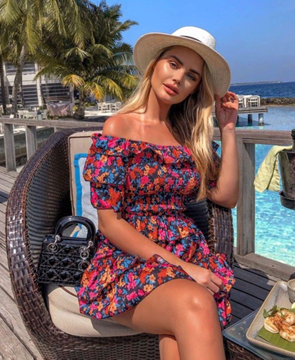 Sukienka W Stylu Boho Bez Ramiaczek Kwiaty Pretty Dresses Dresses Editorial Fashion