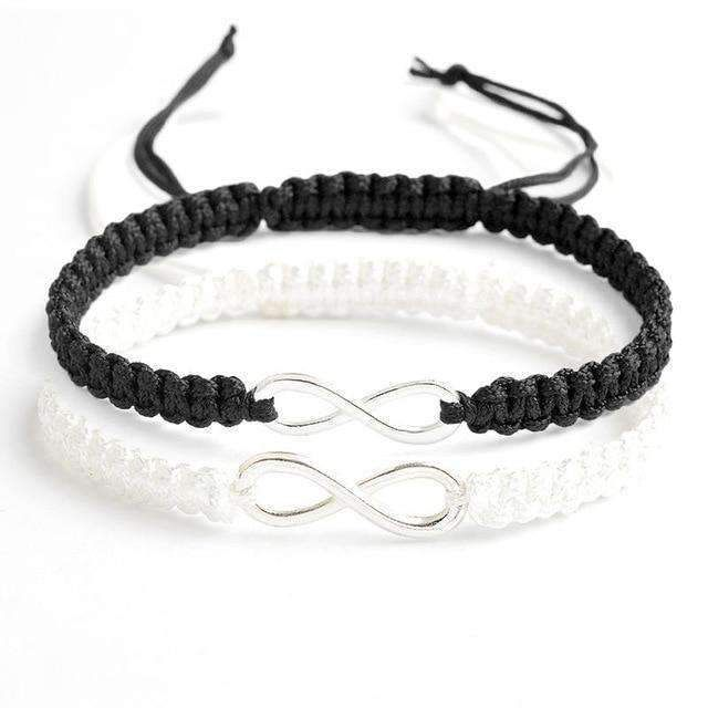 This Infinity bracelet silver set of two is a powerful symbol of connection and …