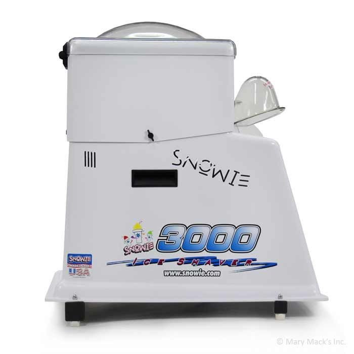 Snowie 3000 shaved ice machine was specially