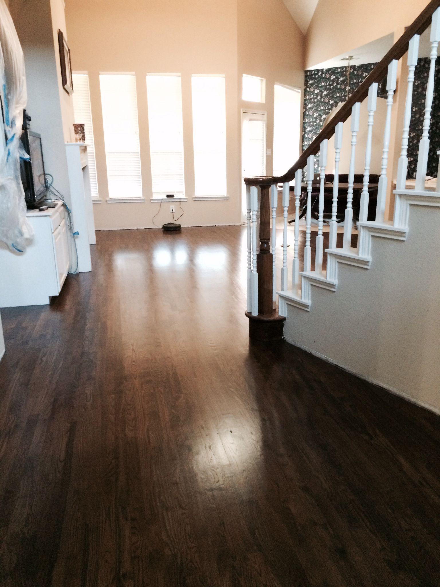 Dark walnut stain on white oak hardwood floor pinterest