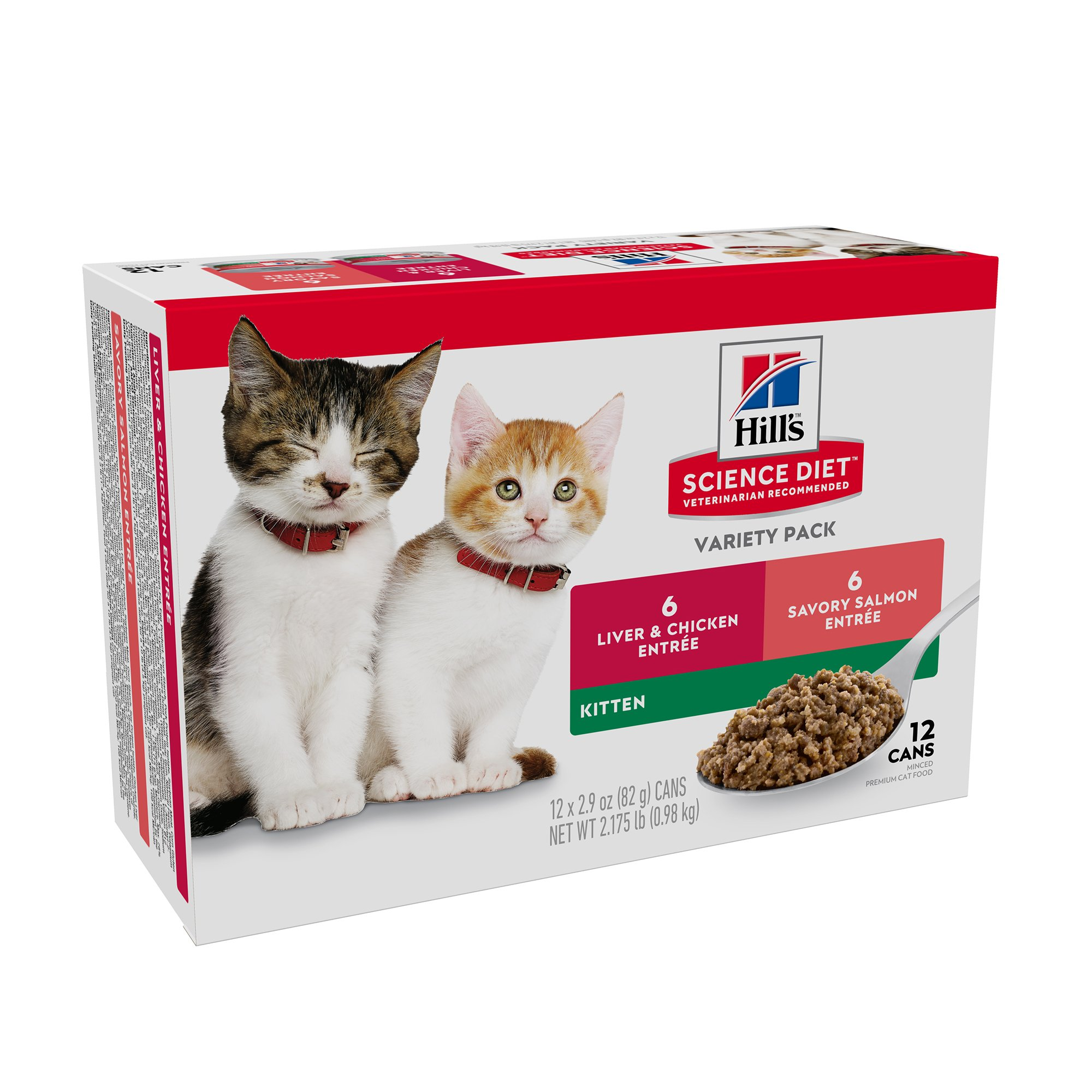 Hill S Science Diet Kitten Wet Food Variety Pack 2 9 Oz Count Of 12 Hills Science Diet Science Diet Kittens
