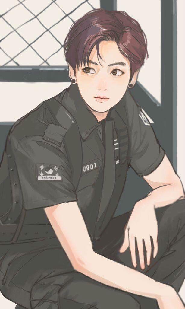 """Photo of Officer Jungkook """"DOPE"""" I'm sick 'MV"""