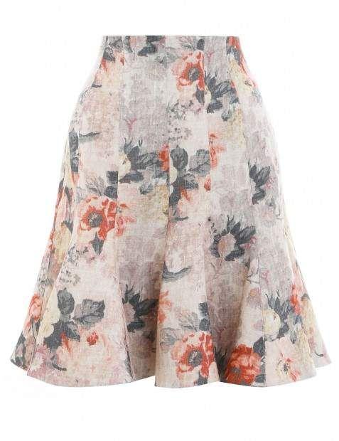 f21c114dba6e Zimmermann Golden Plisse Mini Dress found on Polyvore featuring dresses,  lemonade acid floral, flower printed dress, flower pri…