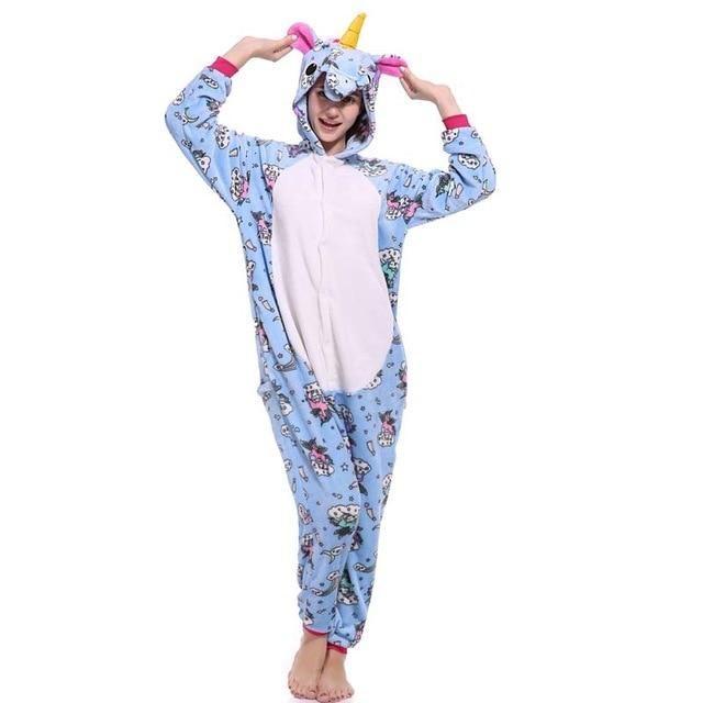 Animal Pajamas Women Adults Costume Cosplay Party Kigurumi Sleepwear Fancy Dress