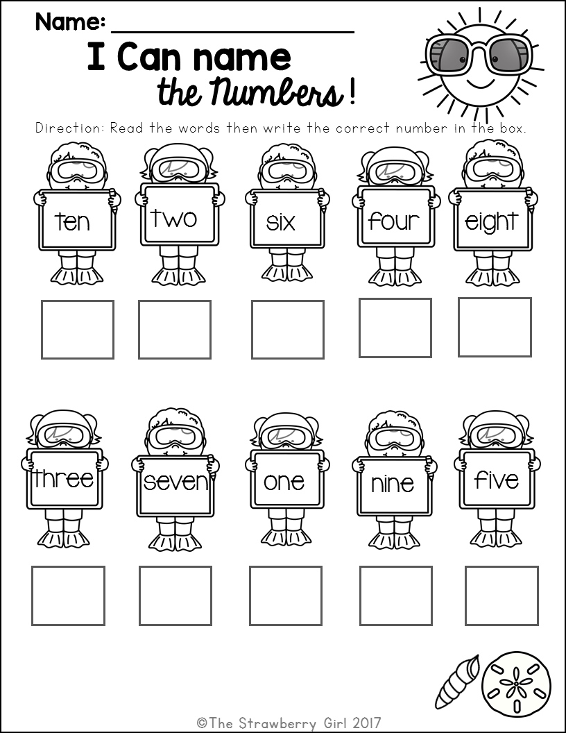 Kindergarten Math Worksheets Summer Amazing And Creative Lesson