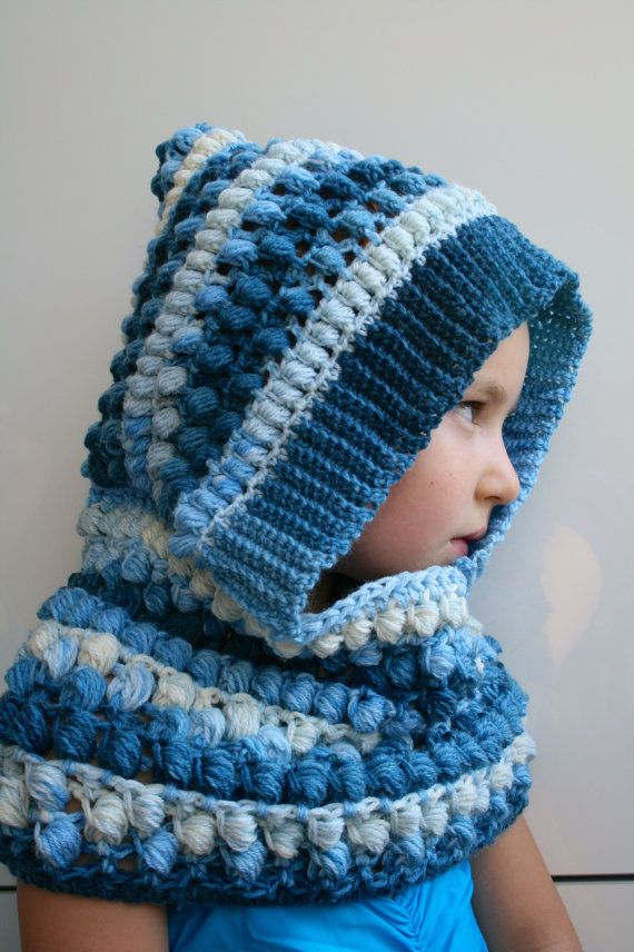 Crochet Pattern Crochet Hooded Scarf Pattern Hooded By Luzpatterns