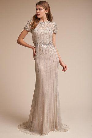 Stunning Geometric Inspired Upstate New York Wedding Beaded Vintage Dress