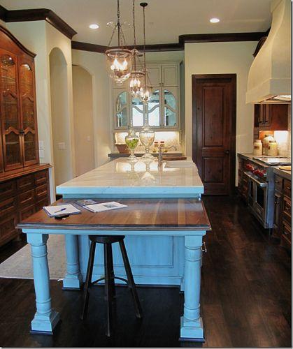 Kitchen Island With Table Extension: Tile House Via Cote De Texas Kitchen Island Table 2