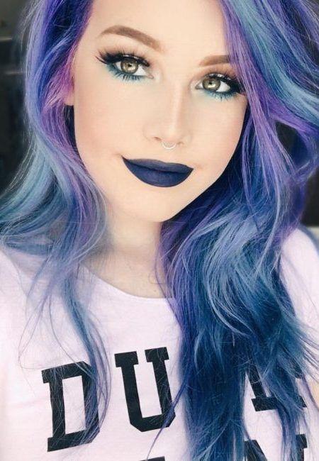 Regenbogen-Haarfarbe | Haarfarben, Violette haare, Lila haare