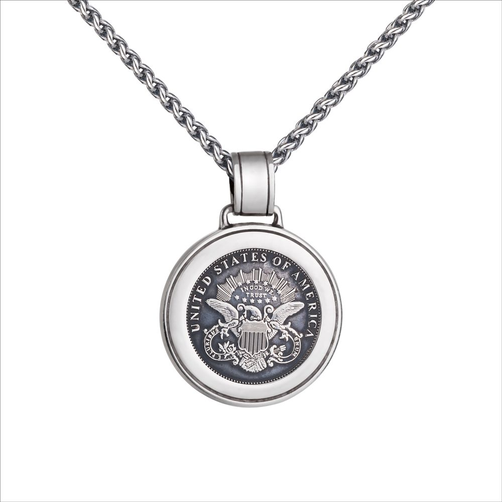 Colby Davis Pendant Large Military Sterling Silver Pendant Timeless Jewelry Jewelry