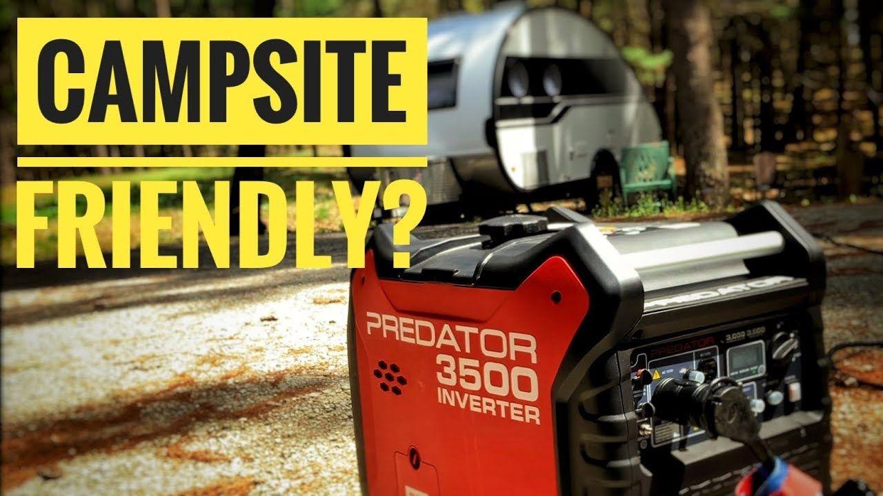 Harbor Freight Predator 3500 watt generator Noise Test