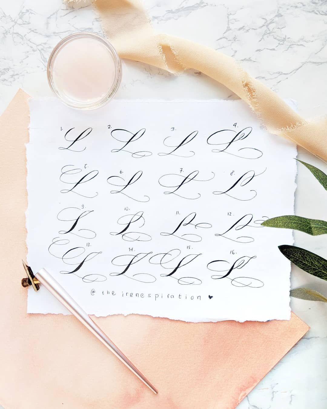 Irene Bay Area Calligrapher On Instagram Yay 16 Types Of Uppercase L Flourishing Are Here The Hand Lettering Alphabet Hand Lettering Art Hand Lettering