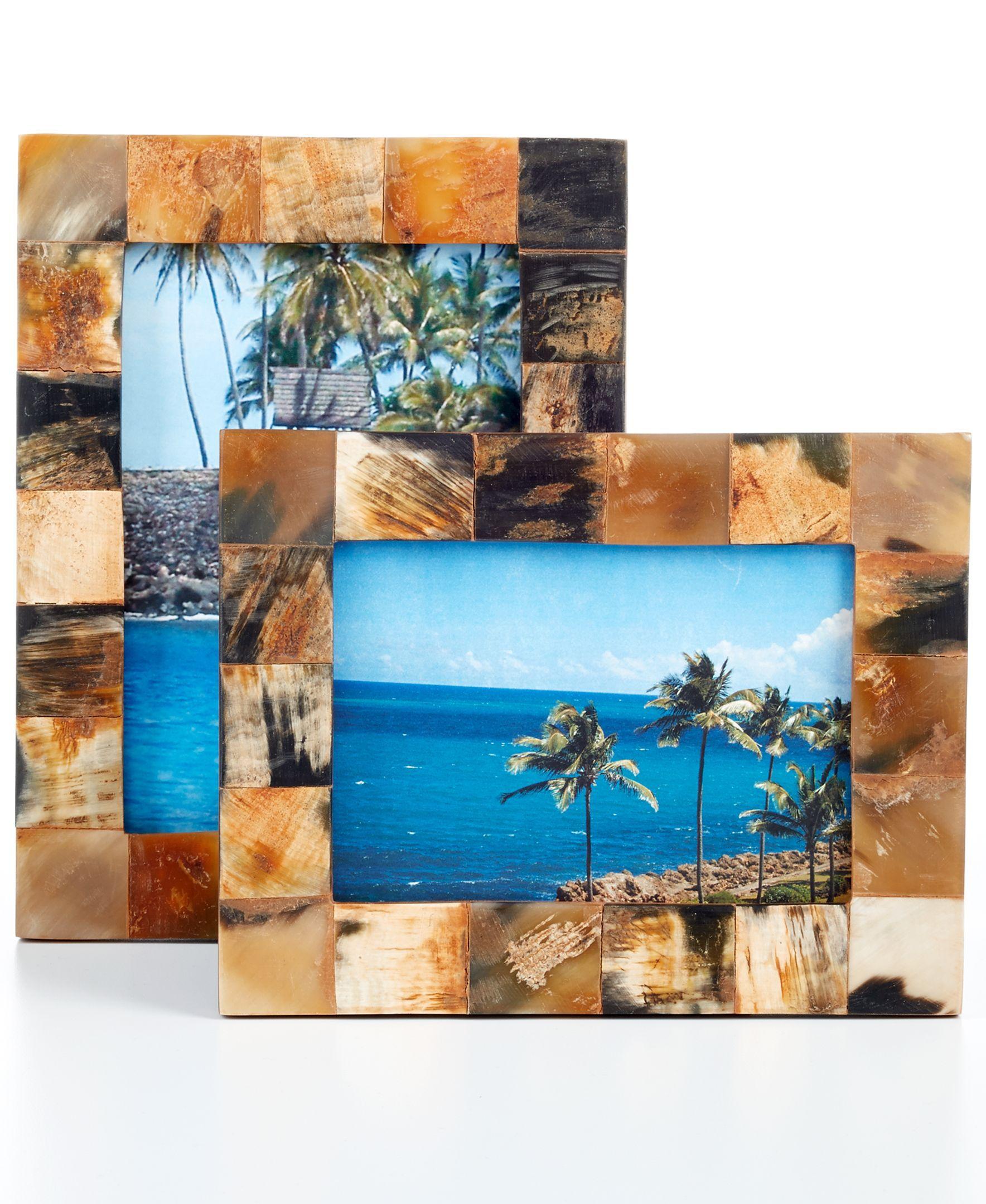 """Heart of Haiti 9"""" Horn Picture Frame"""