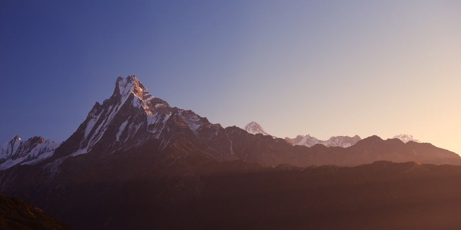 Machhapuchhre in the morning light by Tristan Brittaine on 500px